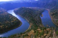 Détour d'une rivière images stock