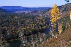 Détour d'une rivière Image libre de droits