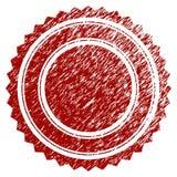 Détresse Rosette Seal ronde texturisée Image stock