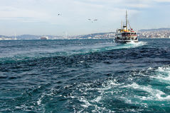 Détroit de Bosphorus à Istanbul Images stock