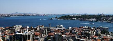Détroit de Bospurus, Istanbul Photo libre de droits