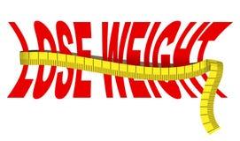 Détruisez le poids illustration stock