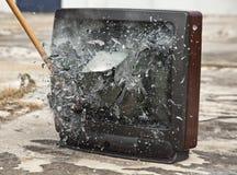 Détruisez votre télévision Photo stock