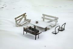 Détruit dans la neige Image libre de droits
