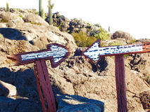 Détruit dans le désert Photo stock