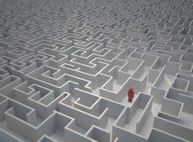 Détruit dans le labyrinthe illustration de vecteur