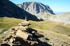 Détruit dans les montagnes photographie stock