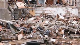 A détruit l'immeuble après la catastrophe banque de vidéos