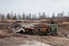 A détruit un char d'assaut Photographie stock