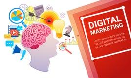 Développement créatif de stratégie de plan marketing de Digital Photo libre de droits