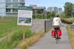 Développement de Richmond Canada et de digue photographie stock libre de droits