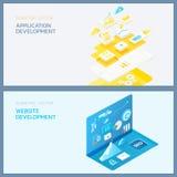 développement de site Web d'application Illustration Stock