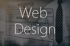 Développement de site Web de dessin de concepteur Images stock