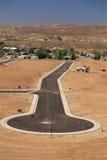Développement de terrain de désert Images stock