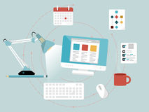 Développement de web design Images stock