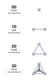 développement des dimensions 3D trois avec les sphères grises Photos libres de droits