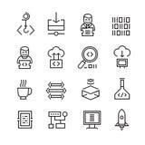 Développement et Seo Icons de Web Images stock