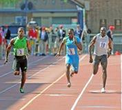 Développement olympique 100 relais de Penn de tableau de bord de mètre Photos libres de droits