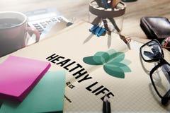 Développement personnel Co de la vie de nutrition physique saine de vitalité Photos stock
