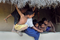 Développement rural en Inde Photos stock