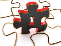 Déverrouillage du puzzle. image 3D Image libre de droits