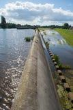 Déversoir de déviation d'inondation Image stock