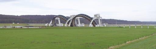 Déversoir de Driel aux Pays-Bas Images stock