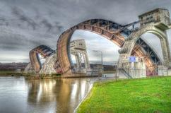 Déversoir de Driel aux Pays-Bas Photographie stock libre de droits