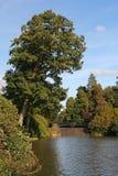 Déversoir et riverbank images stock