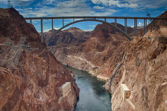 Déviation de barrage de Hoover photo libre de droits