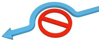 Déviation de restriction de flèche illustration libre de droits