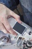 Dévissage de la caméra sur le site Web Élimination de la matrice photo stock