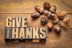 Dê agradecimentos - conceito da ação de graças Imagens de Stock Royalty Free