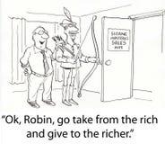 Dê aos ricos Fotos de Stock
