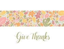 Dê a bandeira dos agradecimentos Fotos de Stock