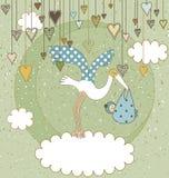 Dê boas-vindas ao cartão do bebê Imagens de Stock Royalty Free