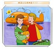 Dê boas-vindas a meu bebê! Imagens de Stock