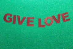 Dê a decoração do Natal do amor Imagem de Stock