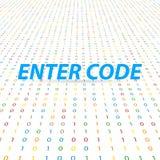 Dê entrada ao código para a base global da rede digital Foto de Stock Royalty Free