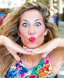 Dê-me o beijo Imagens de Stock