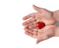 Dê o coração Imagem de Stock