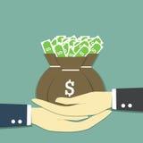 Dê o dinheiro ilustração stock