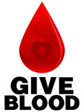 Dê o sangue ilustração stock