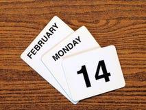 Día 2011 de Vantentine del calendario Imagen de archivo