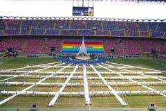 Día 2012 con el papa, 02/06/12 de la familia imagenes de archivo