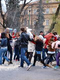 Día 2012, Lublin, Polonia de la lucha de almohadilla Foto de archivo libre de regalías