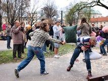 Día 2012, Lublin, Polonia de la lucha de almohadilla Imágenes de archivo libres de regalías