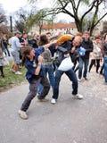 Día 2012, Lublin, Polonia de la lucha de almohadilla Fotografía de archivo