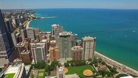 Día aéreo de Illinois Chicago almacen de video