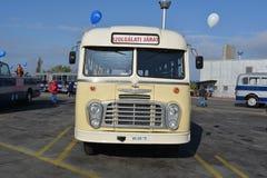 Día abierto del público en el garaje de 40 años Cinkota 37 del autobús Imagen de archivo libre de regalías